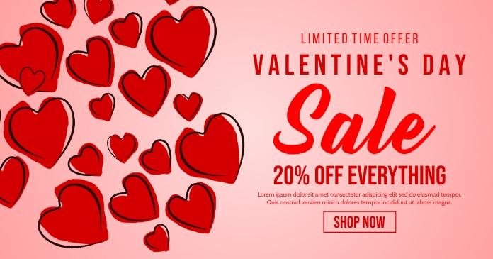 Valentines Ibinahaging Larawan sa Facebook template