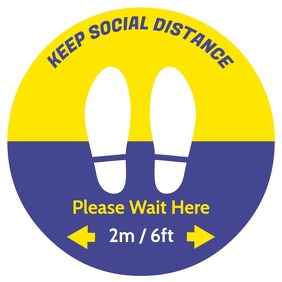 Waiting Sticker - Stop Area Square (1:1) template
