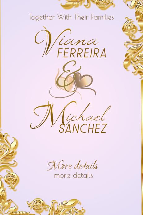 Wedding Announcement Plakat template