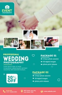 Wedding Photography Flyer Halve pagina breed template
