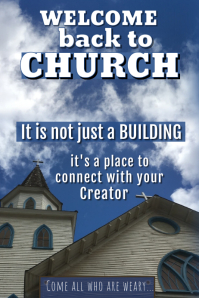 Welcome Back to Church Poster Affiche template