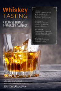Copy of Whiskey Tasting Dinner Flyer