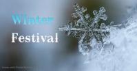 Winter Изображение, которым поделились на Facebook template