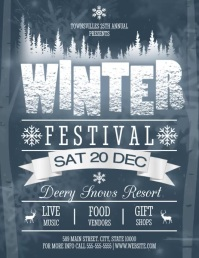 WINTER Flyer (Letter pang-US) template