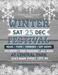 Winter Fest Flyer (US Letter) template