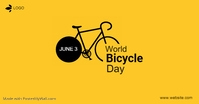 world bicycle day Facebook-Anzeige template