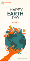 world Earth Day 2021 template Roll Up Banner 3' × 6'