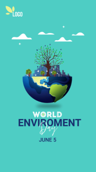 world environment day Instagram Story template