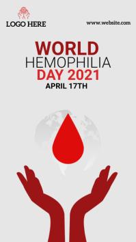 World hemophilia day Instagram Story template