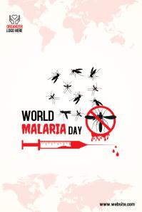 world malaria day Spanduk 4' × 6' template