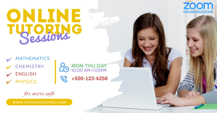 Zoom Online Classes Facebook Share Po template