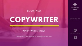 Copy Writer Hiring Facebook Cover Video