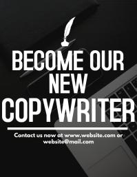 Copywriter hiring flyer