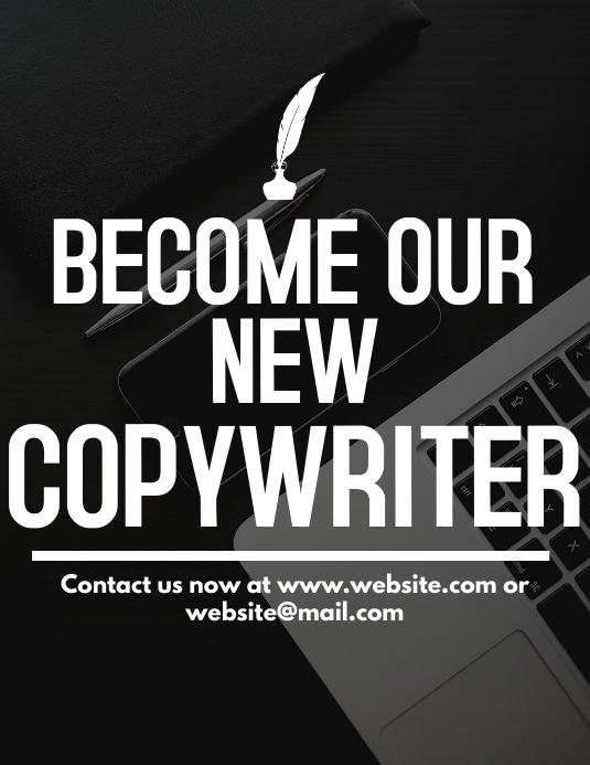 Copywriter hiring flyer template