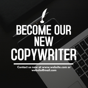 Copywriter hiring instagram post template