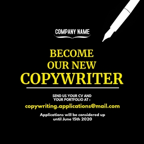 copywriter hiring instagram post