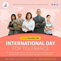 Coral International Day of Tolerance Instagra Instagram-Beitrag template