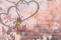 Cordial Wedding Love Banner 4 × 6 Fuß template