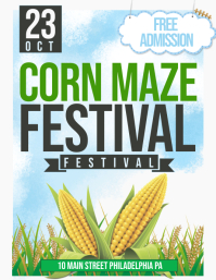 corn maze Flyer (US Letter) template