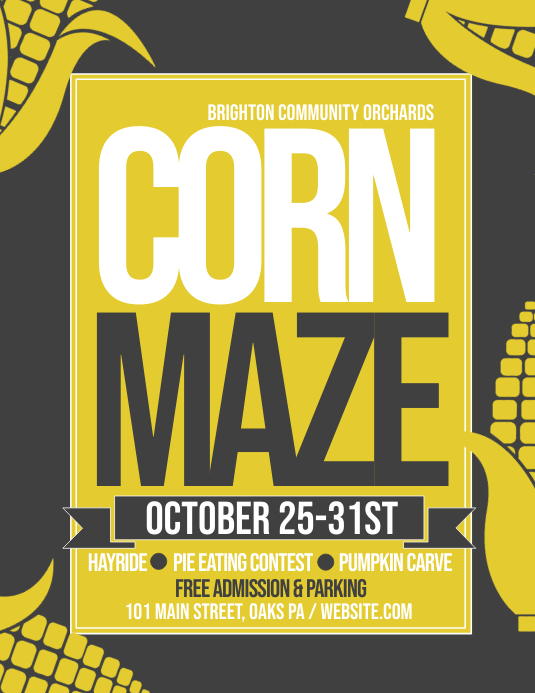 corn maze Pamflet (VSA Brief) template