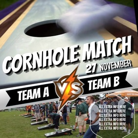 CORNHOLE EVENT AD VIDEO TEMPLATE Kvadrat (1:1)