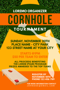 Cornhole Sport Game Tournament