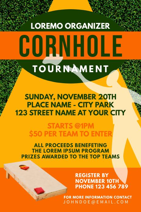 Cornhole Sport Game Tournament