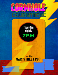 Cornhole Tournament Bean Bag Toss Event Flyer