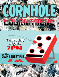 Cornhole Tournament Bean Bag Toss Event Flyer Template