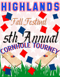 Cornhole tournament fall festival