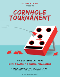 Cornhole Tournament Flyer Design Template