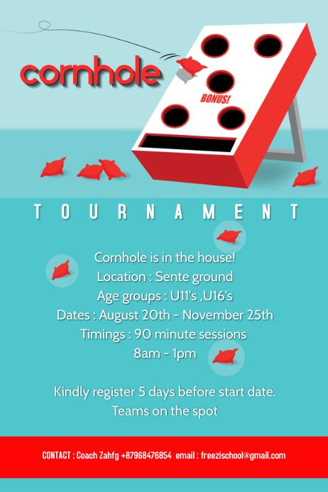 Cornhole training poster