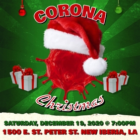 CORONA CHRISTMAS PARTY FLYER TEMPLATE Instagram Post