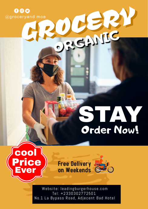 Corona Food delivery A2 template