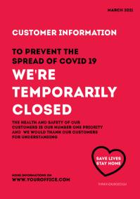 corona information customer poster flyer din
