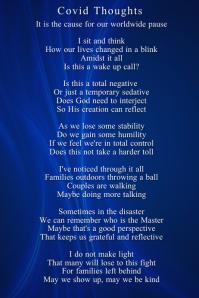 Corona Poem Poster