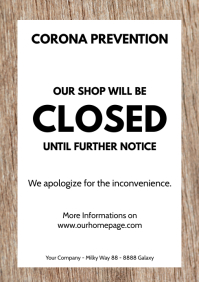 Corona Prevention Customer Information Closed