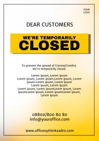Corona Prevention Information Flyer Poster