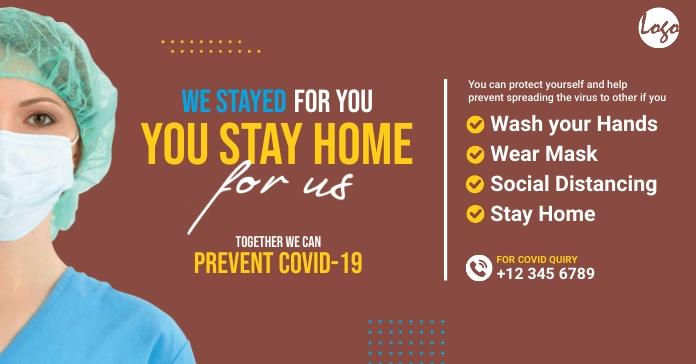 Corona treatment facebook image template