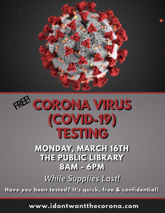 Brosur Templat Uji Selebaran Virus Corona Covid 19 Postermywall