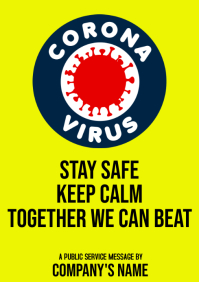 Corona Virus A 4 size Template