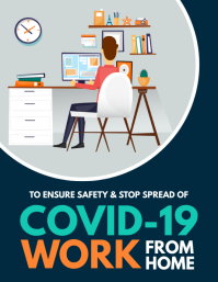 Corona Virus Awareness, work from home Flyer (US Letter) template