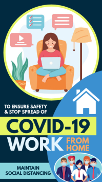 Corona Virus Awareness, work from home Instagram Story template