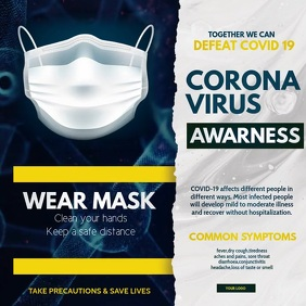 Corona virus awareness ,Wear mask