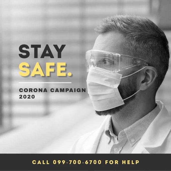 Corona Virus Awareness Campaign Portada de Álbum template