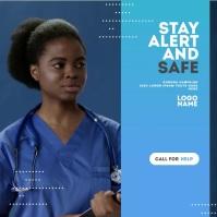 Corona Virus Awareness Campaign Pochette d'album template
