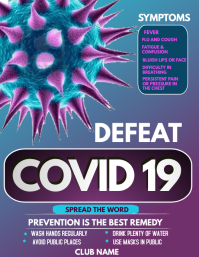 Corona virus awareness flyers