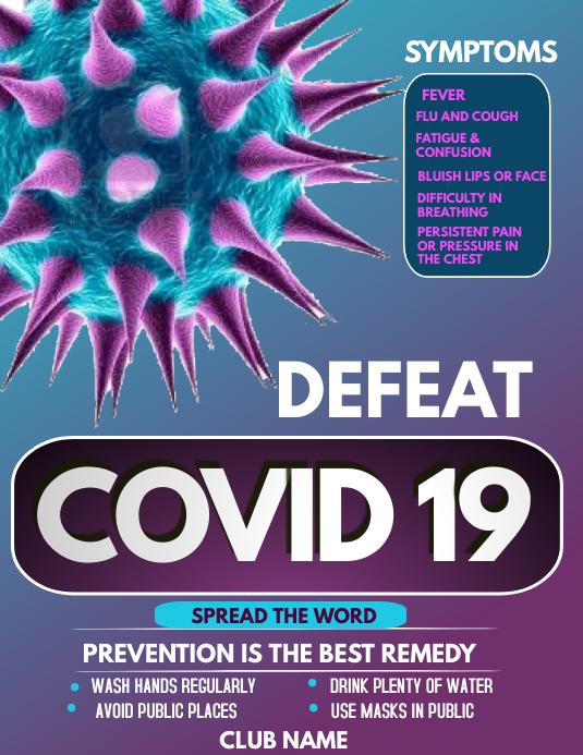 Corona virus awareness flyers template