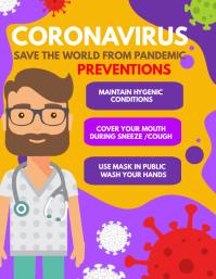 corona virus awareness flyers