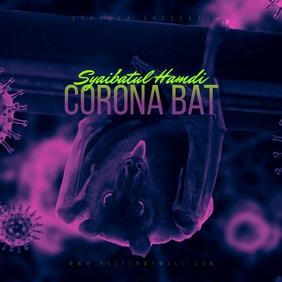 Corona Virus Bat CD Cover Template